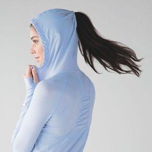 lululemon Ponytail slit pullover half zip hoodie